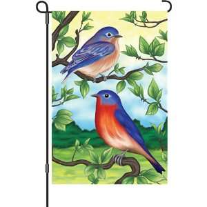 12in Garden Flag   Blue Birds Patio, Lawn & Garden