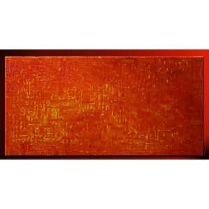 Abstract Textured Decorative Modern Yellow Accents Oil Painting Hand