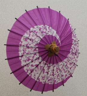 Japanese Mini Paper Umbrella Bangasa with Beautiful Print Flower