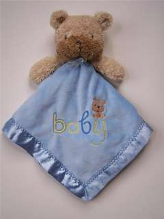 Carters Child of Mine BABY Blue BEAR Dog Security Blanket Boy LOVEY