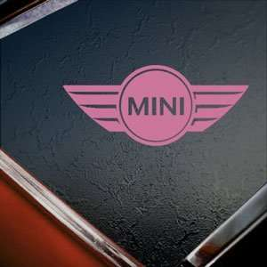 Mini Cooper Pink Decal Car Truck Bumper Window Pink