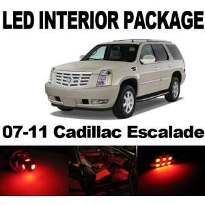 Cadillac Escalade 07 11 RED 8x SMD LED Interior Bulb Package Combo