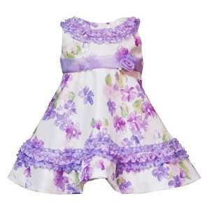 Rare Editions Baby/Infant Girls 12M 24M 2 Piece PURPLE WHITE RUFFLE