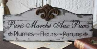 Paris Flea Market Sign Shabby Cottage Chic Home Decor