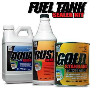 kbs auto fuel tank sealer kit only $ 62 95 a money saving 3 step