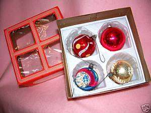 CHRISTMAS TREE ORNAMENTS Vintage BALLS Glass Hand Blown