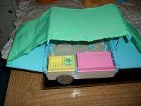 Fisher Price Dollhouse Loving Family People Dolls Camper Van Horses