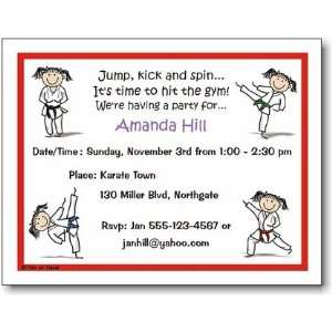 Pen At Hand Stick Figures   Invitations   Karate   Girl