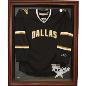 Caseworks Dallas Stars Brown Jersey Display Case Sports