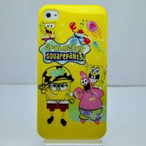 Spongebob Squarepants Hard Case for Iphone 4g/4s Ib033b + Free Screen