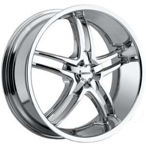 Boss 340 20x8.5 Chrome Wheel / Rim 5x120 with a 14mm Offset and a 82