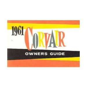 1961 CHEVROLET CORVAIR Owners Manual User Guide