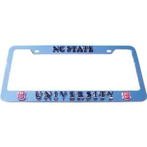 North Carolina State Wolf Pack NCAA Chrome License Plate Frame by Half