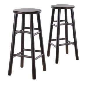 Winsome Wood 29 Bar Stool in Dark Espresso   Set of 2