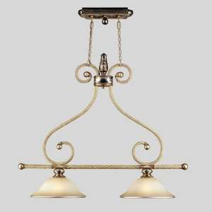 San Marino Collection Hanging Two Light Fixture In Monterrey Beige