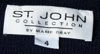 St. John Collection Navy Blue Size 4 Womans Knit Jacket