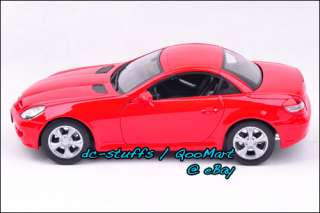 Welly 118 Mercedes Benz SLK 350 Diecast Model Car RED