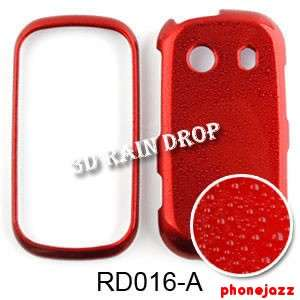 3D Rain Water Drop Red For Samsung Seek M350 Hard Case Cover Snap On