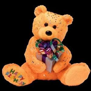 Ty Beanie Babies Happy Birthday the Bear ( Orange   W