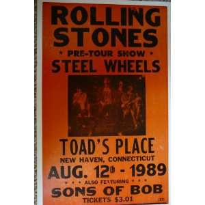 Rolling Stones with Steel Wheels and Sons of Bob Poster