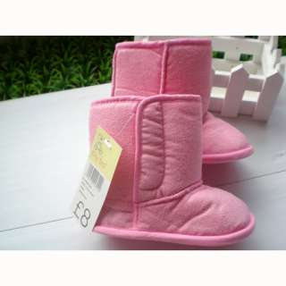 Infant Baby Girls Winter Boots Snow Shoes Pink 6 18 Months Q630 1