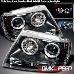 99 04 Jeep Grand Cherokee Twin Halo Pro Headlights +Led Automotive