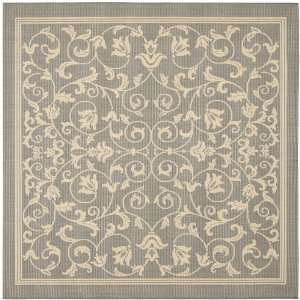 Natural Indoor/Outdoor Square Area Rug, 7 Feet 10 Inch