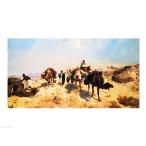 Crossing the Desert   Poster by Jean leon Gerome (24x18