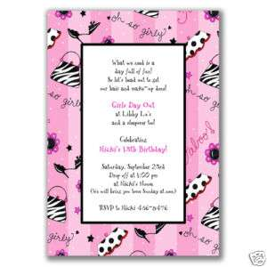 Diva Invitations Birthday Party Girls Glamour Dress Up