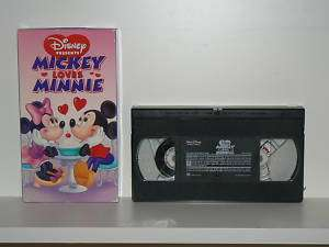 Walt Disney Mickey Loves Minnie~(VHS, 1996) 786936670837