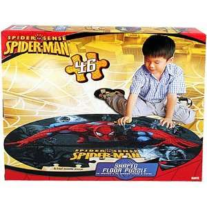 Spider Man Shaped Floor Puzzle [46 Pieces] Toys & Games
