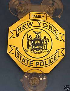 POLICE P.B.A/FOP N.Y. STATE PD FAMILY MEMBER CAR SHIELD