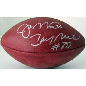 Autographed Joe Montana Football   JERRY RICE Authentic