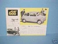 1955 FIAT 600 BROCHURE CATALOG MANUAL GUIDE BOOK 55
