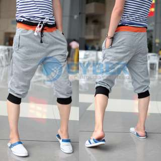Mens Fashion Casual Sport Rope Short Pants Jogging Trousers Cotton