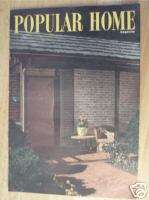Popular Home Magazine Fall, 1947 FLOOR PLANS