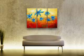 60 ABSTRACT MODERN Floral CONTEMPORARY ART 3 OIL PAINTING P31