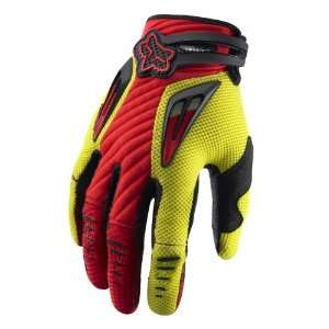 2011 Fox Racing Platinum Race Glove   Red / Yellow   12 (XX Large)