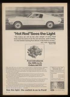 1968 Ford Mustang fastback Cobra Jet 428 car photo ad
