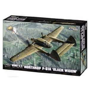 Hobby 1/48 WWII U.S. Northrop P 61A Black Widow Kit Toys & Games