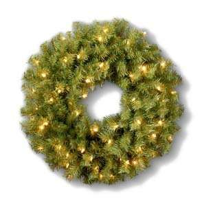 Norwood Fir Wreath with Clear Lights   2 Foot