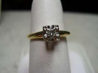 Lovely 14K Yellow Gold Diamond Engagement ring