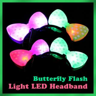 Flash Light Hair Head Band Halloween LED Headband Cute LED Hair