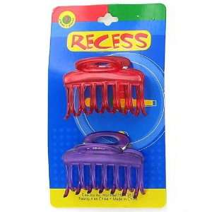 12 Packs of 2 Assorted Colors Girls Jaw Hair Clips