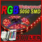Waterproof 5M 16FT RGB 5050 SMD LED Strip Light 300 LEDS & Controller