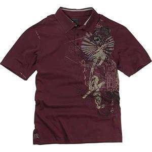 Fox Racing Inked Polo   Large/Pomegranate Automotive