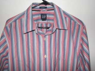 GAP CLASSIC MENS LONG SLEEVE SHIRT LARGE 16 16 1/2