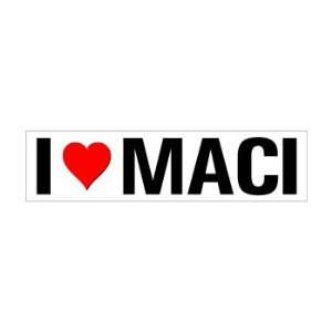 I Heart Love Maci   Window Bumper Sticker Automotive