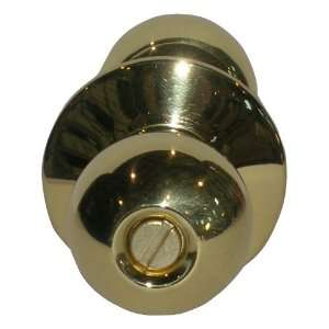 TELL MANUFACTURING, INC. Polished Brass Privacy Door Knob KC2376EMP 3