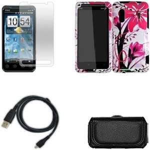 iFase Brand HTC Kingdom Combo Pink Splash Protective Case